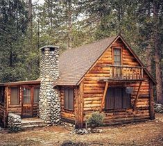 25 Luxury Log Cabin Homes Design Ideas - Page 19 of 29 Log Cabin Living, Small Log Cabin, Tiny House Cabin, Log Cabin Homes, Tiny House Living, Tiny Log Cabins, Tiny Houses, Small Cabin Designs, Log Cabin Exterior