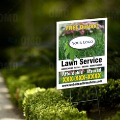 Lawn Care Yard Sign. Keep your Business in front of potential customers. #lawncaremarketing