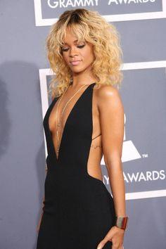 Rihanna Grammy Awards 2012 Backless Dress Black Dress -becs bday dress