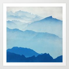 Buy Blue Mountains by DSZPLN as a high quality Art Print. Worldwide shipping available at Society6.com. Just one of millions of products available.