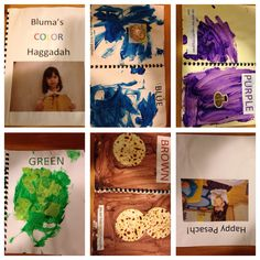 Color Haggadah. Great for 2's class. Add in songs children learnt as well!