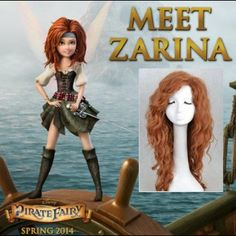 Disney Pirate Fairy (spring 2014) Meet Zarina cosplay wig Adult wigNot sure about this Zarina wig, but interesting Etsy wig shop