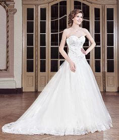 Sophia wedding dress with a train.  http://talis.ro/train-wedding-dresses/