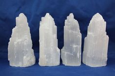 Selenite is my ultimate favorite of all crystals. It is an angel crystal and needs no clearing plus it can clear all your other crystals within minutes!  Selenite will bring in positivity and keep negativity away. <3  You can find this crystal polished, in towers like here, polished stones, long slabs. And it's not expensive!!