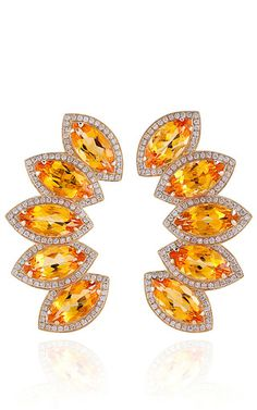 These Dana Rebecca Designs earrings feature citrine and diamonds in 14K yellow gold. Butterfly Back Closure for Pierced Ears1.38ct Diamonds17.22ct Citrine14K Yellow Gold