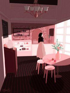 tracy J lee – Gif Archive Comic Anime, Anime Art, Aesthetic Art, Aesthetic Anime, Flower Aesthetic, Illustrations, Illustration Art, Beautiful Gif, Anime Scenery