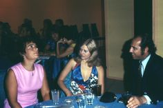 pic 38. Being Married to Derek who was a Justice of the Peace, Hannelies loved going to parties.  Here she is in pink at a function probably in Kitchener, ON.  I don't know who the others are.  1971. Her Age: 43