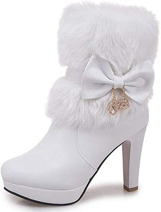 Looking for DecoStain Women's Faux Fur Bowtie&Glass Diamond Ornament High Heel Boots ? Check out our picks for the DecoStain Women's Faux Fur Bowtie&Glass Diamond Ornament High Heel Boots from the popular stores - all in one. Shoes Boots Ankle, High Heel Boots, Heeled Boots, Ankle Bootie, Women's Shoes, Soda Shoes, Wedge Shoes, Dress Shoes, Lila Outfits