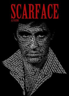Tony Montana from Scarface Scarface Quotes, Scarface Poster, Scarface Movie, Al Pacino, Michelle Pfeiffer, The Godfather Poster, Carlo Gambino, Movie Tees, Supreme Wallpaper
