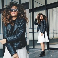 Get this look: http://lb.nu/look/7738210 More looks by Sophia Mulder: http://lb.nu/sophiamulder Items in this look: Forever 21 Black Moto Leather Jacket, Forever21 White Lace Midi Skirt, Dr. Martens, Quay Kitti Sunglasses #quay #quaykitti #kitti #midiskirt #leatherjacket