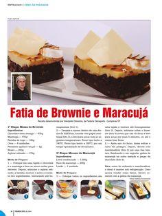 Brownie con maracuya