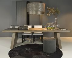 Glamorous taupe and wood office/study | Find more luxury furniture in www.bocadolobo.com