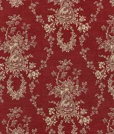 Waverly Country House Red Toile Home Decorating Fabric BTY by texassusannie on Etsy https://www.etsy.com/listing/465536356/waverly-country-house-red-toile-home