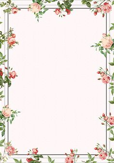 Flower Background Wallpaper, Flower Backgrounds, Background Images, Wallpaper Backgrounds, Frame Border Design, Page Borders Design, Borders For Paper, Borders And Frames, Floral Border