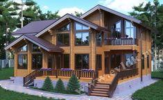 дома из клееного бруса площадью 283 м²