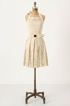 """How pretty! Anthropologie """"Charmed I'm Sure"""" apron - no longer available.  Please note:  This particular """"listing"""" may no longer be available but the link will take you to seller's store so you can view other options."""