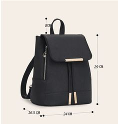 Item Type: Backpacks Backpacks Type: Softback Carrying System: Arcuate Shoulder Strap Technics: Embossing Exterior: Silt Pocket Size: 24*29*16.5 Rain Cover: Yes Interior: Interior Slot Pocket,Cell Phone Pocket,Interior Zipper Pocket,Interior Compartment Handle/Strap Type: Soft Handle Closure Type: Cover Decoration: Belts Gender: Women Pattern Type: Solid Style: Preppy Style Lining Material: Polyester Main Material: PU Capacity: Below 20 Litre Main material: Pu leather Bag style: Fashion…