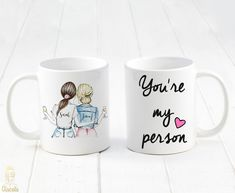 personalized best friends coffee mug, coffee mug gifts, gifts for mom