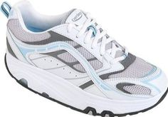 Exersteps Womens Selection,White/Grey/Blue,6.5 M US Exersteps. $29.95