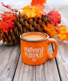 Fall Mug Morning Pumpkin Orange Campfire Mug Autumn Mug - Halloween Makeup
