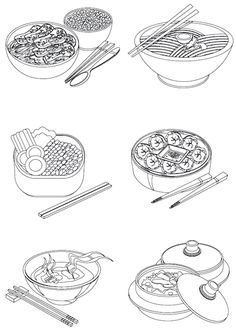 Garden Coloring Pages, Colouring Pages, Adult Coloring Pages, Coloring Sheets, Coloring Books, Food Background Wallpapers, Cute Backgrounds, Food Illustrations, Illustration Art