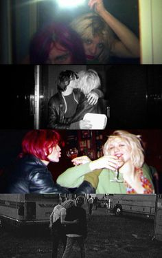 Kurt Cobain and Courtney Love Courtney Love Hole, Kurt And Courtney, Tim Burton, Frances Bean Cobain, Donald Cobain, Nirvana Lyrics, The Devil's Advocate, Nirvana Kurt Cobain, Smells Like Teen Spirit
