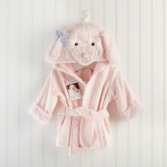 Baby Aspen Pretty in Pink Poodle Hooded Spa Robe Baby Aspen, Hood Girls, Baby Receiving Blankets, Pink Poodle, Baby Towel, Baby Monogram, Soft Towels, Baby Outfits Newborn, Baby Newborn