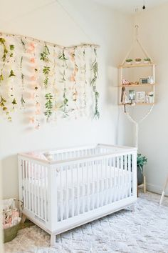 Floral boho girl's nursery and newborn photos