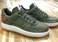 SUPREME × NIKE AIR FORCE 1 LOW OLIVE #sneaker