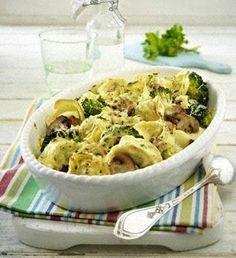 Tortelloni-Auflauf mit Champignons und Brokkoli Rezept