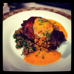 Roasted Turkey Thigh with Carrot Ginger Crema