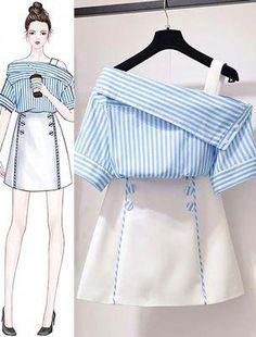 Korean Women's Fashion Ideas 1247772079 – Ruffles fashion… - Korean fashion Set Fashion, Teen Fashion Outfits, Look Fashion, Stylish Outfits, Girl Fashion, Cute Outfits, Fashion Ideas, Classy Fashion, Korea Fashion