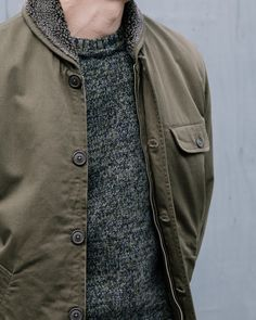 Great shot of our N1 Deck Jacket and Soft Wool Knitted Crew