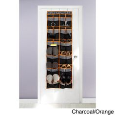 Over-The-Door Shoe Organizer Over-the-Door Shoe Organizer; Holds 24 pairs of shoes; Three top hooks for easy over-the-door hanging OrganizerHome Over Door Shoe Rack, Door Shoe Organizer, Door Hooks, Toy Rooms, Guest Suite, Space Saving, Wine Rack, Home Accessories, Home Improvement