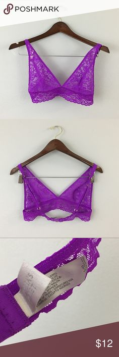 Victoria Secret NWOT Purple Lace Bralette Victoria Secret NWOT Purple Lace Bralette. Size Large. Bralette has adjustable straps and stretch. NWOT, never worn. Perfect for layering. Victoria's Secret Intimates & Sleepwear Bras