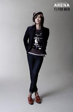 Kim Hyunjoong.  A gravure for Korean magazine 'ARENA'(2008)