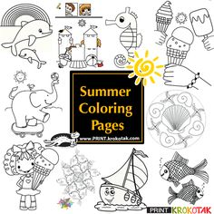 Summer Colouring Pages
