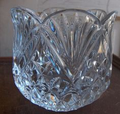 Lead Crystal Flower Shaped Candle Votive / by GrannysTreasures4u, $12.99