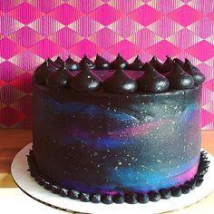 Black velvet galaxy cake!