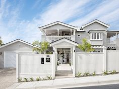 Gate House, Facade House, Hamptons House, The Hamptons, Home Catering, Alfresco Area, Shaker Style Kitchens, Front Fence, Home Reno