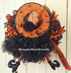 Halloween bruja corona  guirnalda de Deco malla corona