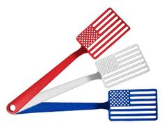 Star Spangled Spatula. One of these nylon resin American flag-shaped spatulas is the perfect way to show your patriotic spirit in the kitchen or at the grill. They are heat resistant up to 430°, made in Chicago, and available in red, white, or blue. National Building Museum Shop