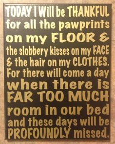 Today I Will Be Thankful For All The Pawprints On by iCONNDecals, $20.00 @Angelia Anthony could you mak something like this?