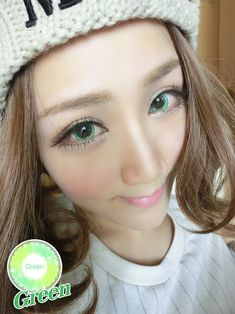 Best Selling Crazy Color Contact Lens Halloween Gifts Magical Stars Green