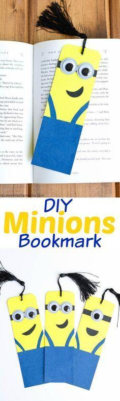DIY Minions bookmark