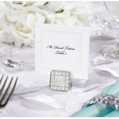 David Tutera Wedding Collection - Printable Swiss Dot Place/Escort Cards