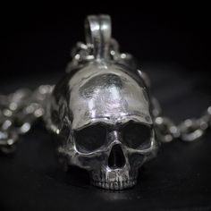 Hand crafted large size silver skull pendant with polished finish  Highly detailed skull pendant by Mystique Jewellery Order at: www.mystiquejewellerystore.com #skull #skullpendant #humanskull #skulljewelry #skulljewellery #silverjewelry #silverskull #tattoo #menfashion #menjewelry #skullring #musician #metal #heavymetal #rockmusic #hipster #hiphop #metalmusic #rustic #mystiquejewellery