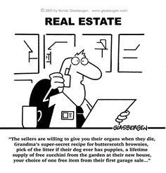 Real Estate Closing Humor | Real Estate comics, cartoons about real estate sales, cartoons about ...