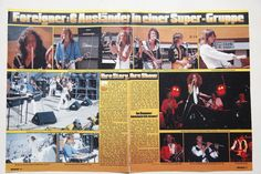 Foreigner Lou Gramm Dennis Elliott Mick Jones clippings Germany 1970s | eBay