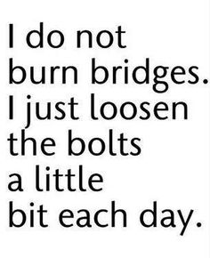 This is SO me....people can't understand why it's so hard for me to cut ties and walk away without looking back....it just isn't my nature!